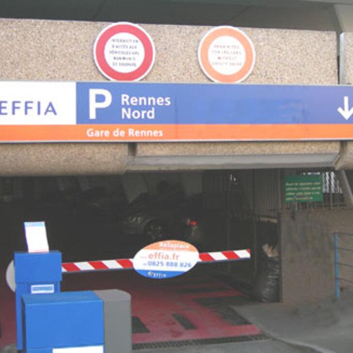 Parking Oficial EFFIA GARE DE RENNES NORD (Cubierto) RENNES