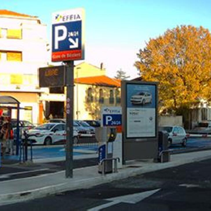Parking Officiel EFFIA GARE DE BÉZIERS (Extérieur) BEZIERS