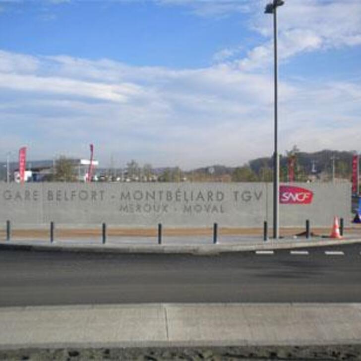EFFIA GARE DE BELFORT-MONTBÉLIARD TGV Officiële Parking (Exterieur) BELFORT MONTBELIARD
