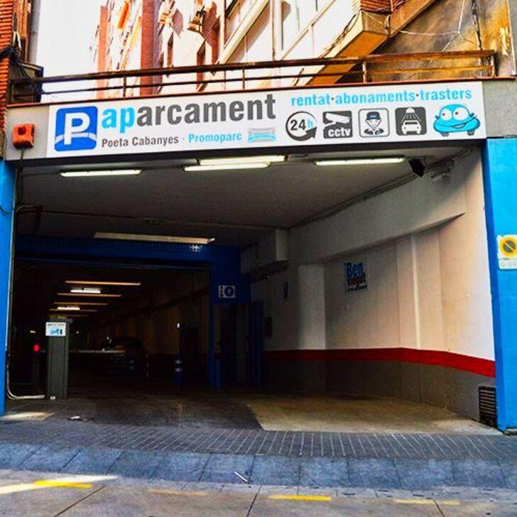 Parking Público PROMOPARC POETA CABANYES (Cubierto) Barcelona