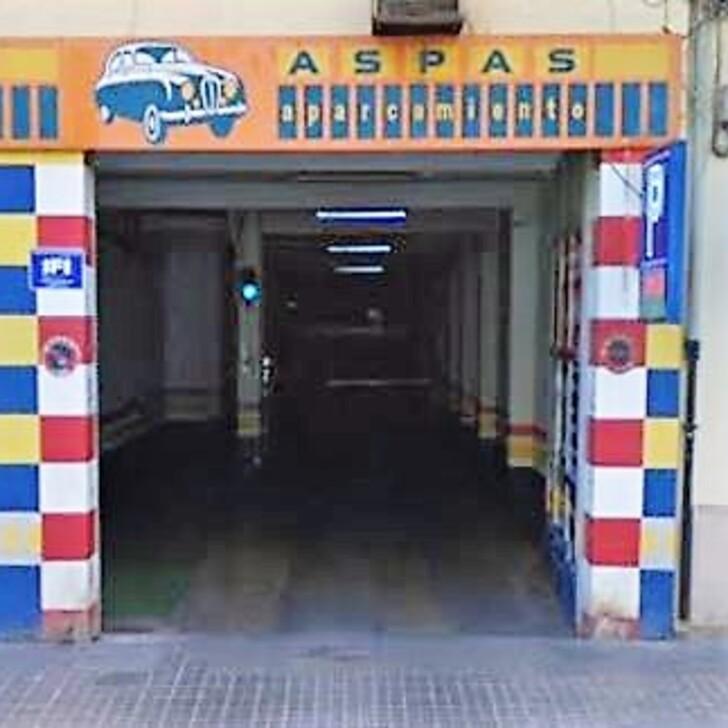 Öffentliches Parkhaus GARAJE ASPAS (Überdacht) Valencia