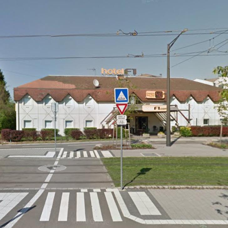 F1 STRASBOURG PONT DE L'EUROPE Hotel Parking (Exterieur) Strasbourg