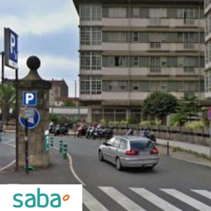 Estacionamento Público SABA ESTACIÓN TREN SANTIAGO DE COMPOSTELA Tarifa de fim de semana (Exterior) Santiago de Compostela