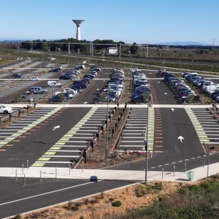 EFFIA NÎMES PONT DU GARD P2 Officiële Parking (Exterieur) Manduel